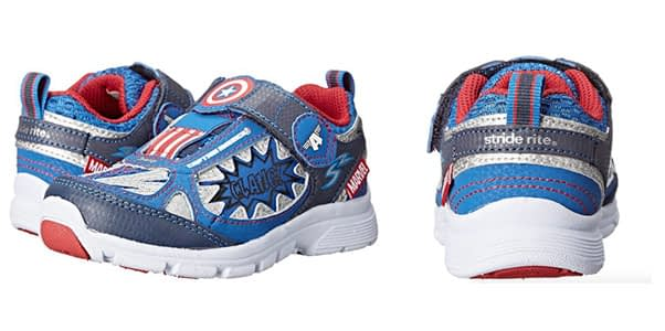 10. Stride Rite Avengers Captain America Light-up Shoe