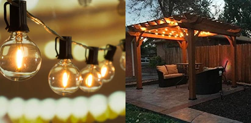 Brightown 25 ft G40 Globe LED Patio String Lights