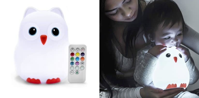Goodnight Owl Rechargeable Night Light for Kids & Toddlers