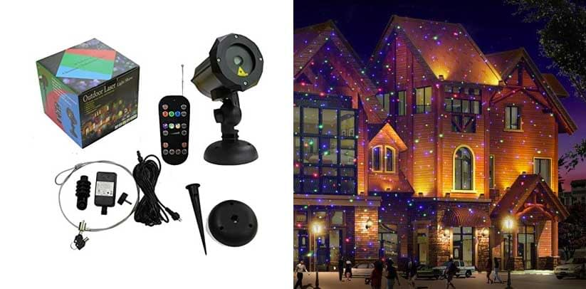 LEDMALL Motion Pattern Firefly RGB Outdoor Laser Garden and Christmas Lights