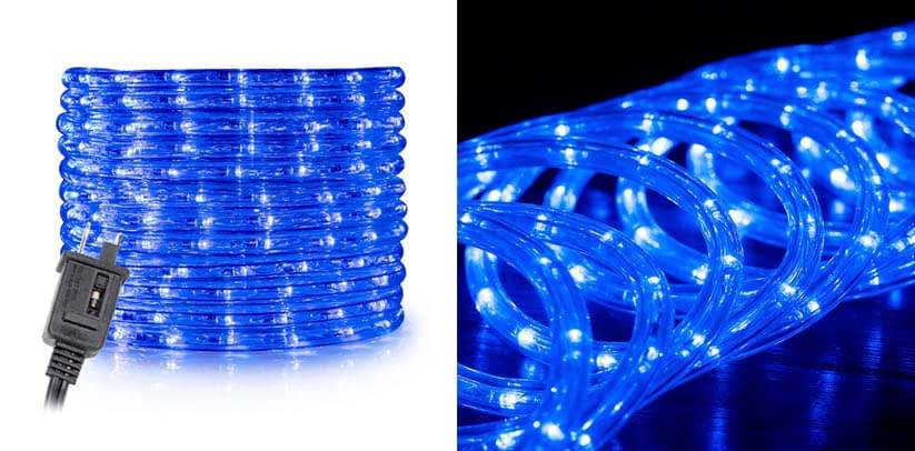 WYZworks 25 feet Blue LED Rope Lights