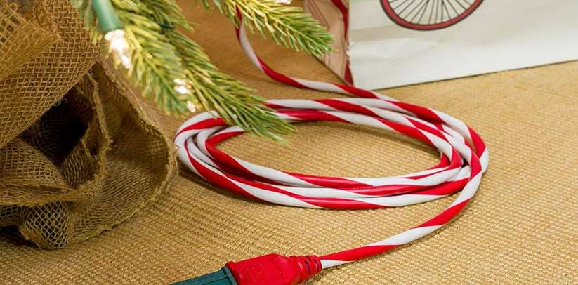 Hide the Christmas Tree Extension Cord