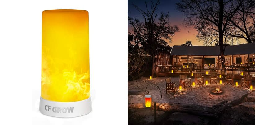 Most Versatile- CF Grow USB Rechargeable Flame Effect Table Lamp