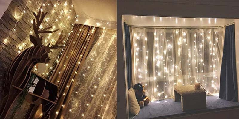 Twinkle Star LED String Light Window Curtain