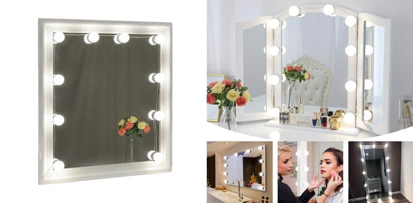 6. Easiest Installation- Chende Hollywood Vanity Bulbs