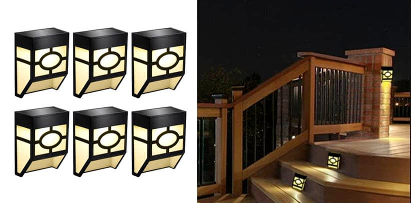 Greluna Solar Wall Fence Lights Outdoor