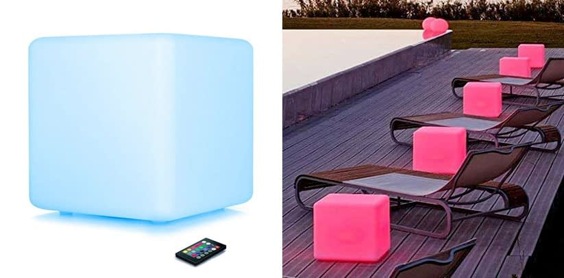 LOFTEK LED Light Cube: 16-inch 16 RGB Colors Dimming Cube Chair