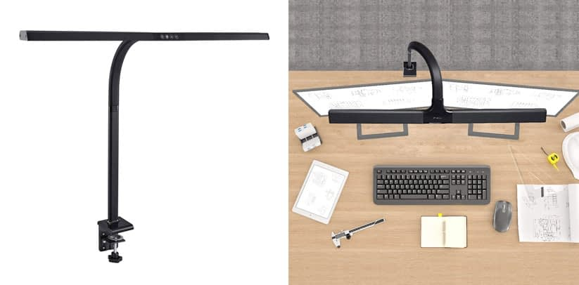 PHIVE LED Desk Lamp, Architect Clamp Task Table Lamp