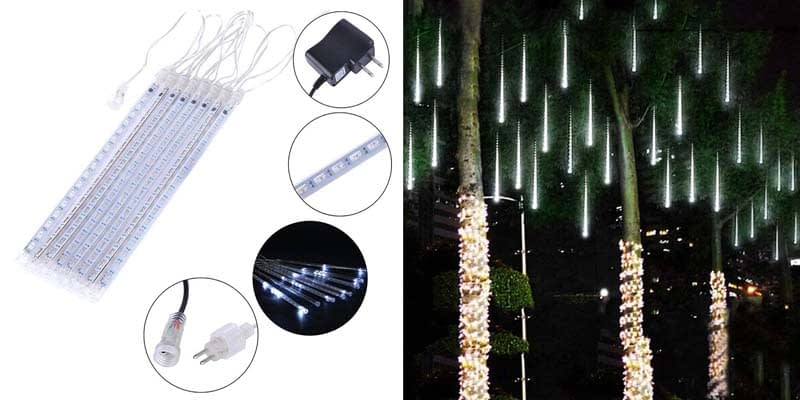 Falling Rain Lights - Adecorty Meteor Shower Lights Christmas Lights