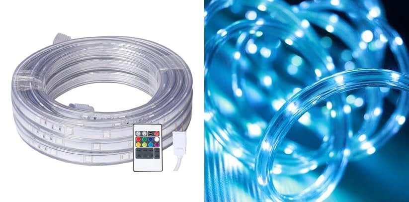 LED Rope Lights, 16.4ft Flat Flexible Color Changing