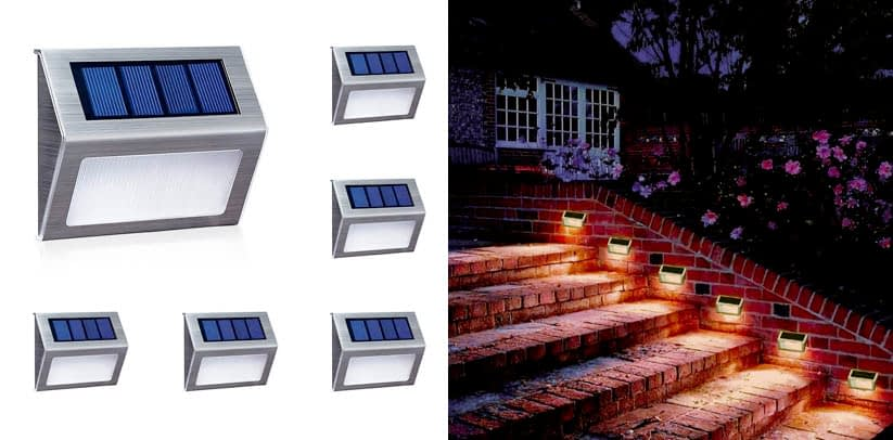 Xlux Solar Lights for Steps Decks Pathway Yard Stairs Fences