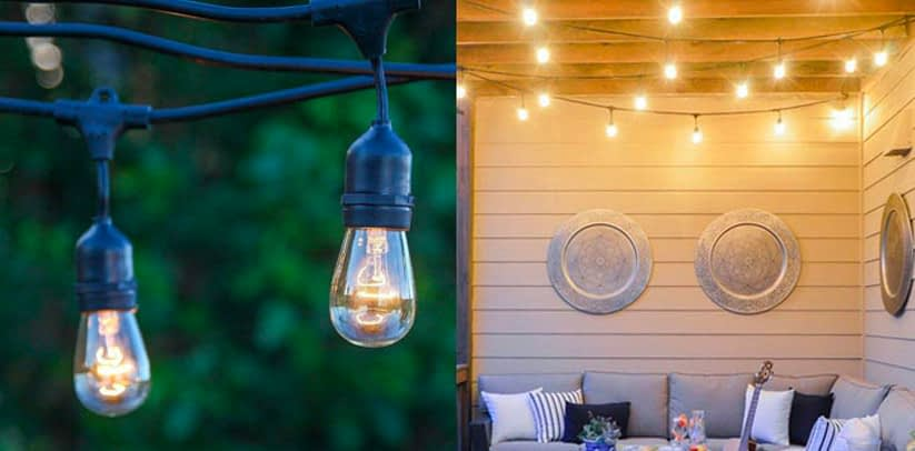 2. Brightech Ambiance Outdoor String of Lights with Vintage Edison Bulbs