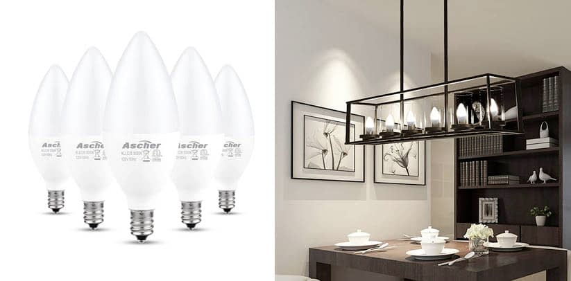 Ascher E12 LED Candelabra Light Bulbs