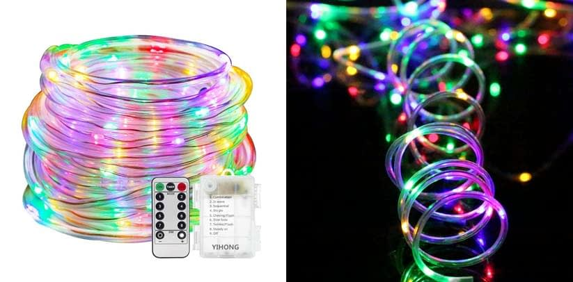 YIHONG Fairy Lights LED Rope Lights Battery Operated
