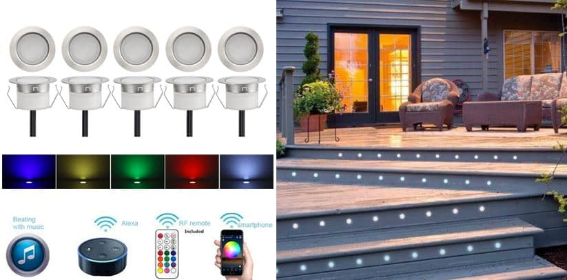 FVTLED 10pcs WiFi Controller Low Voltage LED Deck Lights