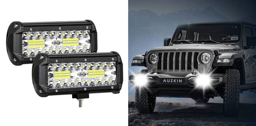 AUZKIN 7 Inches LED Light Bar Submersible driving lights
