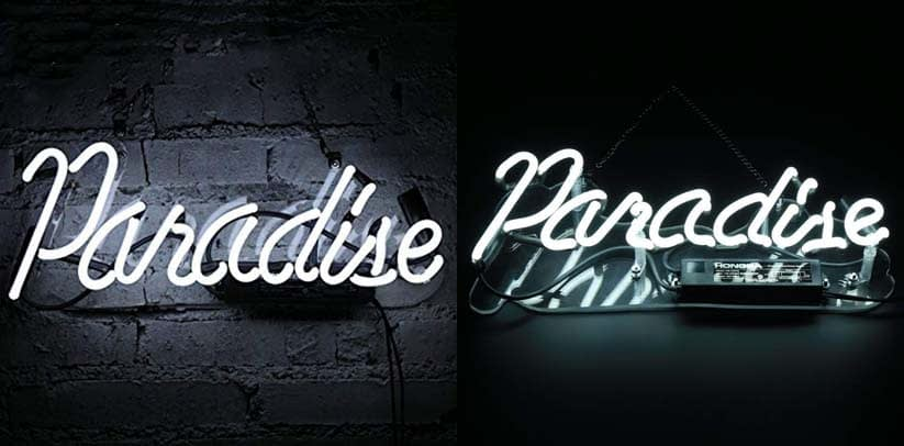 Flydoo Neon Paradise Sign
