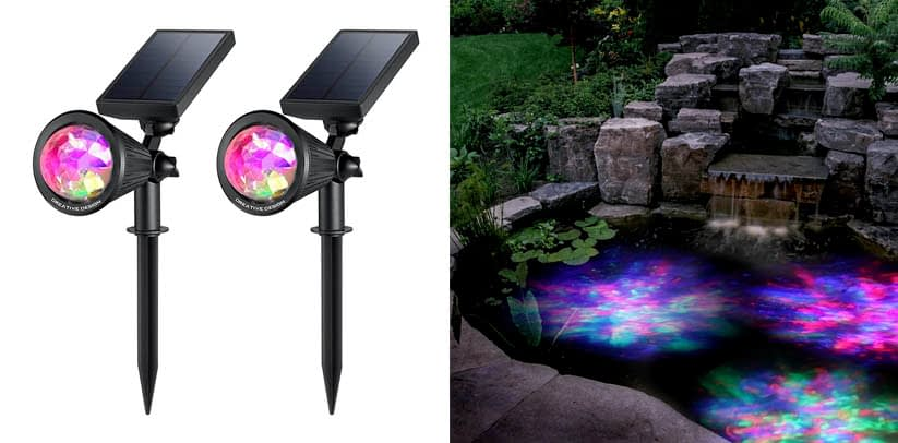 CREATIVE DESIGN Solar Lights Outdoor Colored Solar Pond Lights