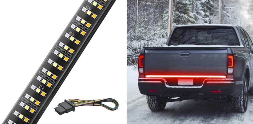 MICTUNING 60 inches Triple 504 LEDs Tailgate Strip Light