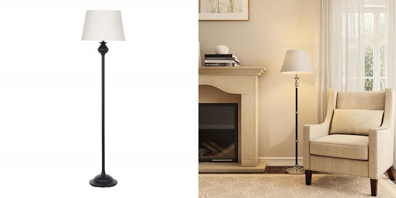 Ravenna Home Metal Standing LED Floor Lamp