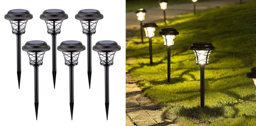 Solpex 6 Pack Solar Path Lights Outdoor