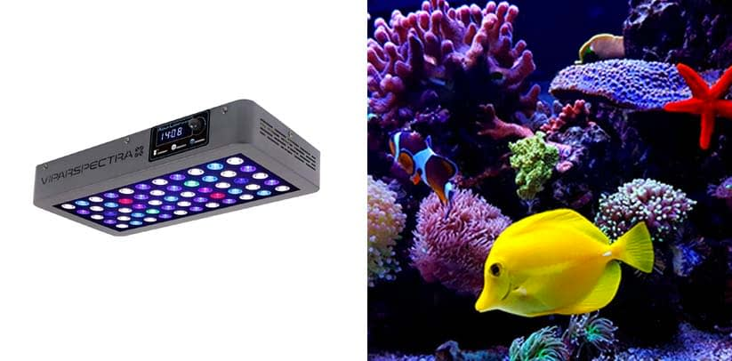 VIPARSPECTRA LED Aquarium Light Full Spectrum for Grow Coral Reef Marine Fish Tank
