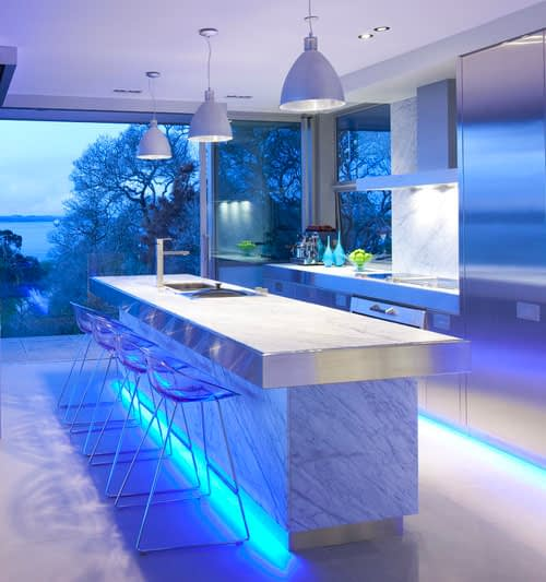 Blue Kitchen Accent Lighting