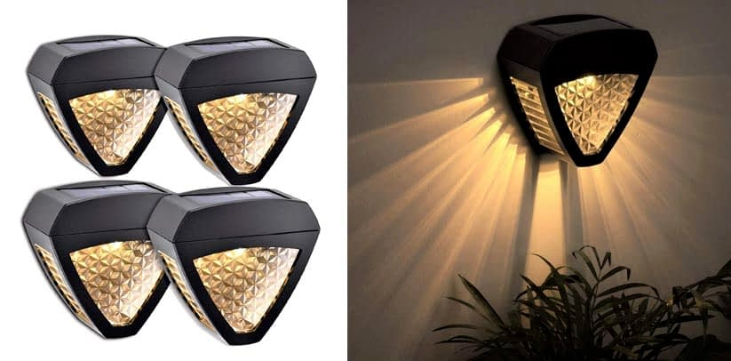 LeiDrail Solar Fence Post Lights Outdoor Fence Wall Light