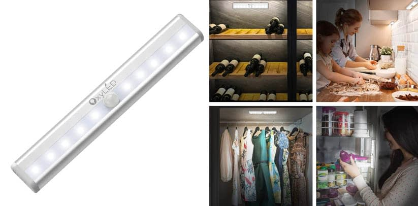 OxyLED Battery Powered Motion Sensor Closet Lights