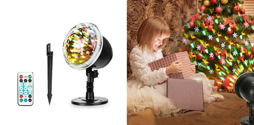 Christmas Projector Lights, Fostoy LED Xmas Decorations Laser Lights