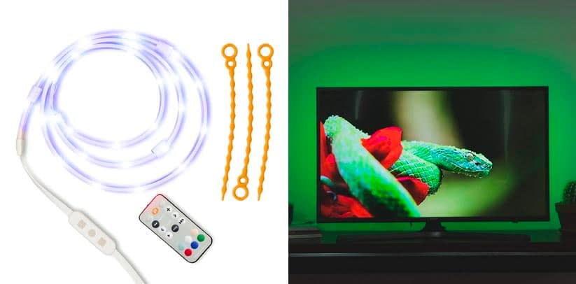 3. Luminoodle Color Bias Lighting 15 Color LED TV Backlight Strip Kit
