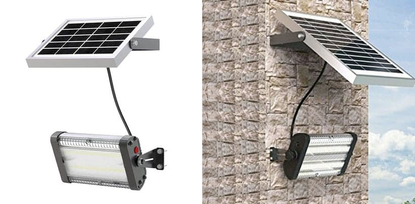 Solar LED Barn Light, 4,000mah Li-ion Battery for Outdoor Indoor Flood Light with Remote Control