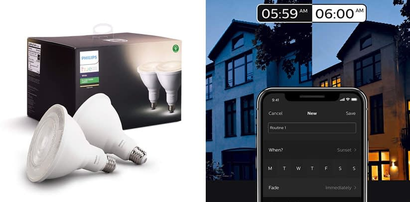 Philips Hue 476820 White Outdoor PAR38 2 Pack