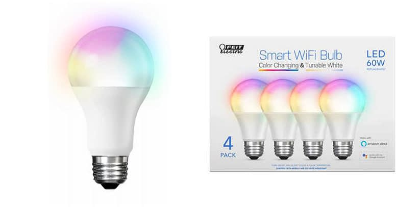 Feit Electric A800 827 AG Dimmable Smart WiFi LED Light Bulb