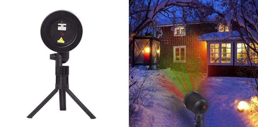 Ominilight Christmas Laser Lights Landscape Projector Lights Outdoor Waterproof Laser Lamp for Halloween Outdoor Garden Yard