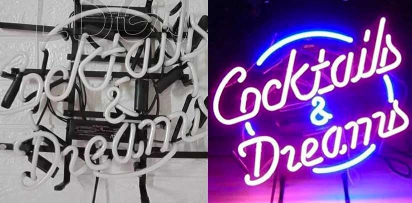 LDGJ Cocktails & Dreams Neon Sign