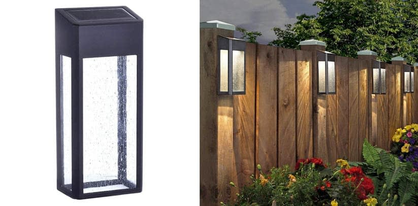 Paradise Solar 4 LED Accent Fence Lights 10 Lumens Cast-Aluminum Outdoor Decor