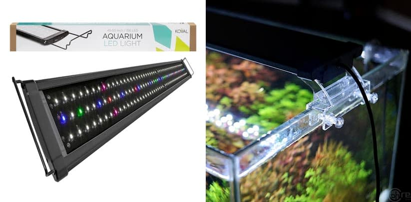 Koval Aquarium Lighting Fish LED Tank Light Hood with Extendable Brackets