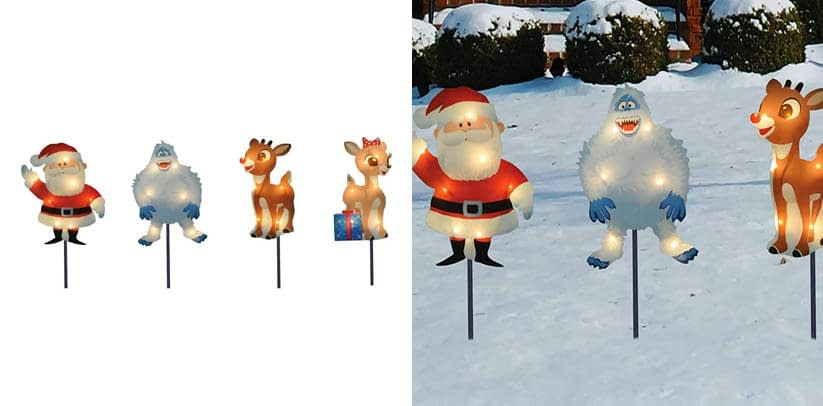 Product Works 8-Inch Pre-Lit Rudolph the Red-Nosed Reindeer Pre-Lit Christmas Pathway Markers