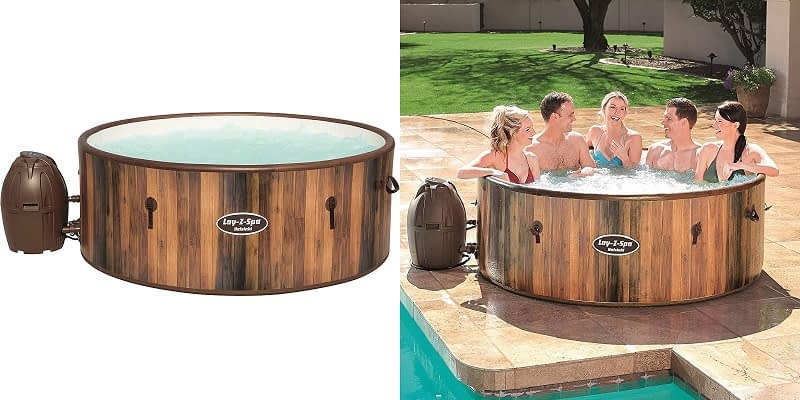 Lay-Z-Spa Helsinki 5-7 Person Inflatable Hot Tub with Freeze Shield