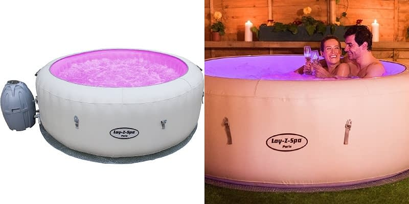 Lay-Z-Spa Paris Inflatable Hot Tub UK with LED light System
