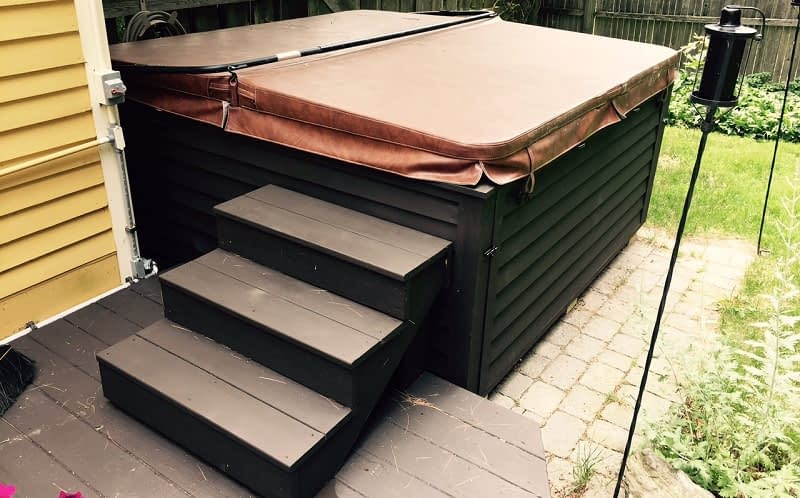 Building Hot tub Steps