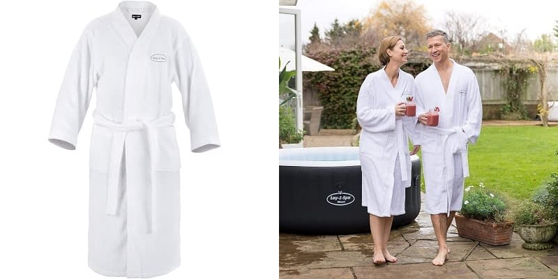 Lay Z Spa Luxury 100% Cotton Spa Robe Dressing Gown