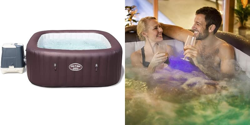 Lay-Z-Spa Maldives Luxury Square Hot Tub with Lights