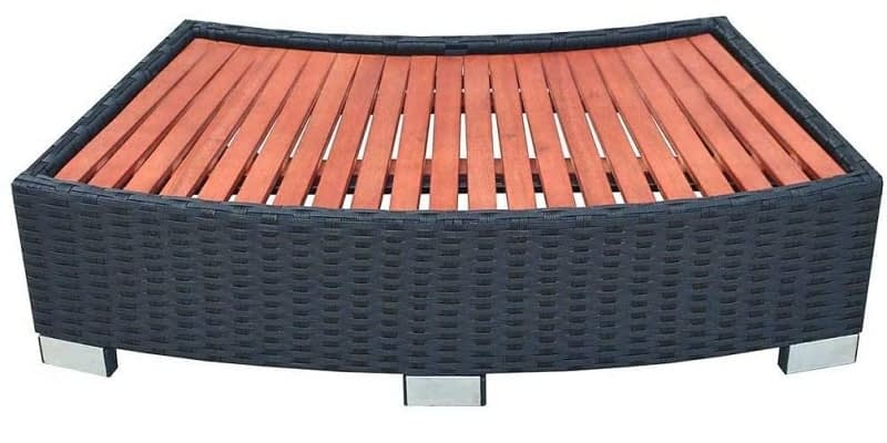 VidaXL Poly Rattan Spa Step