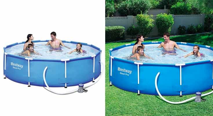 Bestway 56408 Steel Pro Piscina desmontable tubular