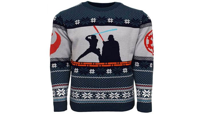Official Star Wars Luke Vs Darth Christmas Jumper Ugly Sweater
