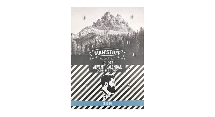 Man'Stuff 12 Day Christmas Advent Calendar Containing Assorted Toiletries For Men